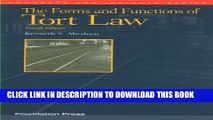 [PDF] The Forms and Functions of Tort Law (Concepts and Insights) Full Online
