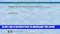 [Read PDF] Migrant Remittance Flows: Findings from a Global Survey of Central Banks (World Bank