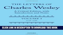 [PDF] The Letters of Charles Wesley: A Critical Edition, with Introduction and Notes: Volume 1