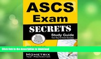 FAVORITE BOOK  ASCS Exam Secrets Study Guide: ASCS Test Review for the Air Systems Cleaning