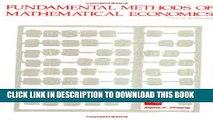[PDF] Fundamental Methods of Mathematical Economics Popular Colection