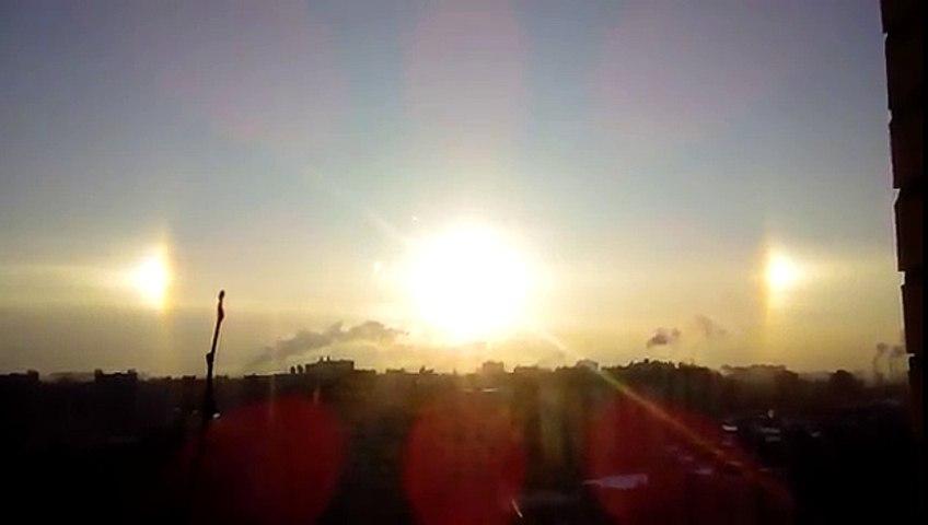 3 mặt trời xuất hiện cùng lúc ở Nga | Godialy.com