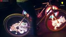 Vos roues de vélo animées et éclairées c'est possible! Invention de l'année pour les bikers