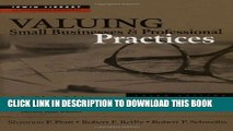 [PDF] Valuing Small Businesses and Professional Practices Popular Colection