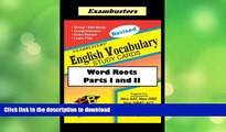 Exambusters English Word Roots--Vocabulary Flashcards: SAT, ACT, GRE, PRAXIS
