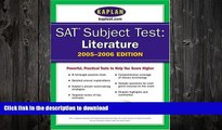 READ  SAT Subject Tests: Literature 2005-2006 (Kaplan SAT Subject Tests: Literature) FULL ONLINE