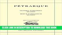[PDF] Pétrarque, Lettres familières. Tome VI: Livres XX-XXIV / Rerum Familiarium. Libri XX-XXIV