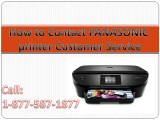 How to contact Panasonic Printer Customer Service Call 1-877-587-1877