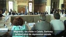 Migrants: en visite à Calais, Sarkozy prône la fermeté