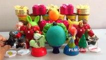 PLAY DOH SURPRISE EGGS with Surprise Toys,Hulk,Marvel Avengers, Iron Man,Predator Nightmare Freddy Aliens,toys videos