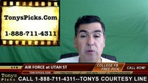 Utah St Aggies vs. Air Force Falcons Free Pick Prediction NCAA College Football Odds Preview 9/24/2016