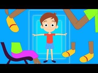 Cabeça, ombros, joelhos e toes rima de berçário para crianças   Canção para as crianças em Português