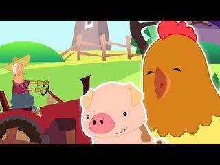 Old MacDonald tinha uma fazenda   Cartoon for crianças   Vídeo Educativo   Popular berçário do Rima