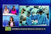 Enfermeras denuncian riesgos de contagio de VIH y hepatitis
