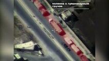 Syrie : un drone russe repère des djihadistes se dissimulant sous le convoi humanitaire incendié