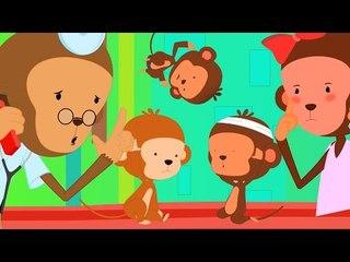 Fünf kleine Affen Deutschland Compilation   Beste Deutsch Reime für Kinder