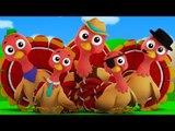 five little turkeys   nursery rhyme   kids song   3d rhyme   turkey song
