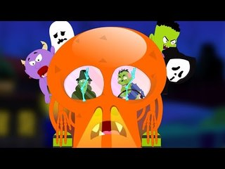 Halloween Wheels On The Bus   Scary Rhymes For Children