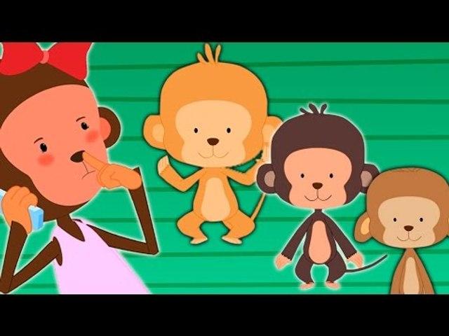 Fünf kleine Affen Reim | Kinderlieder Sammlung | Rhymes Collection in German
