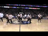 Mavs Maniaacs Perform With The Dallas Mavs Dancers