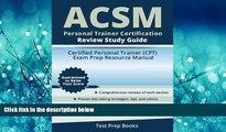 Choose Book ACSM Personal Trainer Certification Review Study Guide: Certified Personal Trainer