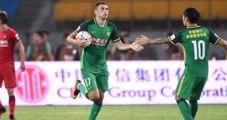 Burak Yılmaz, Beijing Guoan-Yanbian Funde Maçında 2 Gol Buldu