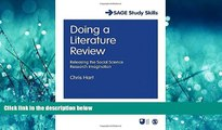 Online eBook Doing a Literature Review: Releasing the Social Science Research Imagination (SAGE