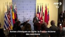 Armes chimiques en Syrie: la France réclame des sanctions