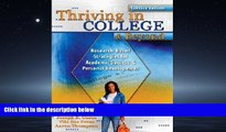 Popular Book Thriving in College   Beyond: Research-Based Strategies for Academic Success