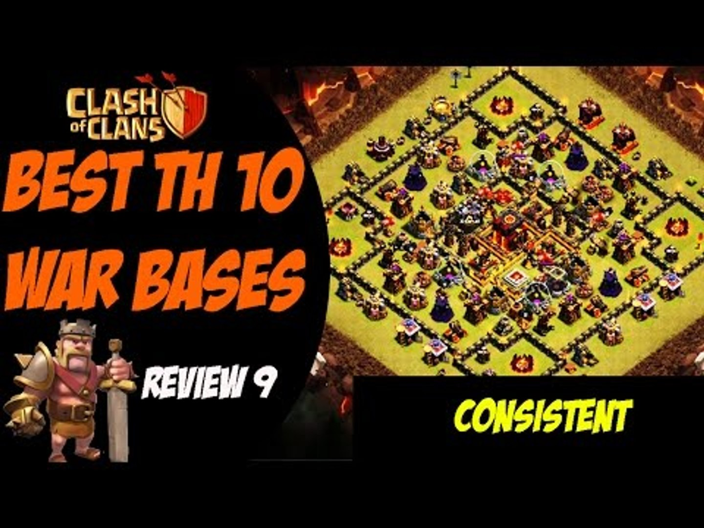 Consistent Defense in Clan Wars Post TH11 Update | Best TH10 War Base Design #9 | Clash of Clans