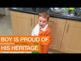 Passionate Young Man Proudly Sings Irish National Anthem