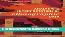 New Book Analysis and Interpretation of Ethnographic Data: A Mixed Methods Approach (Ethnographer