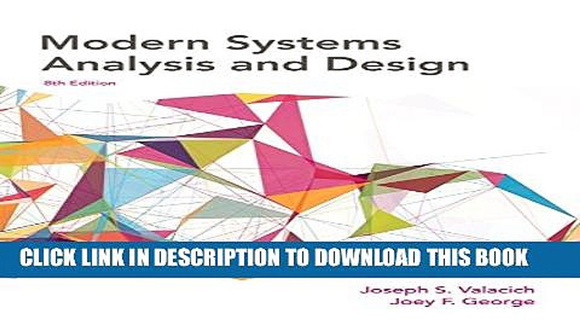 Pdf Modern Systems Analysis And Design 8th Edition Popular Online Video Dailymotion