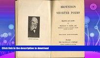 FAVORITE BOOK  Browning s Shorter Poems FULL ONLINE