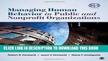 [PDF] Managing Human Behavior in Public and Nonprofit Organizations Popular Colection