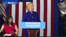 Suddenly afraid  Suddenly be scared during Hillary Clinton Rally in Orlando, Florida