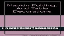 [PDF] Napkin Folding and Table Decorations Full Online