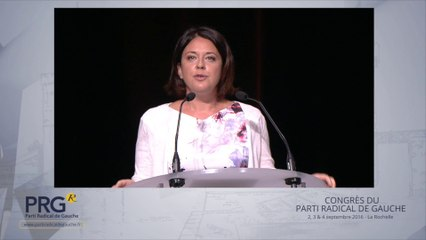 Congrès PRG 2016 - Discours d'ouverture de Sylvia Pinel