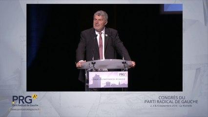 Congrès PRG 2016 - Discours de Jean-François Fountaine, maire de La Rochelle