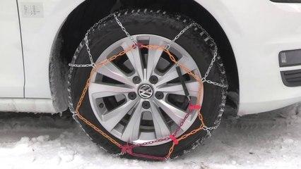 POLAIRE Prime 9 : passanger car snow Chain fiting - Chaine à neige tourisme montage