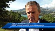 D!CI TV : Hautes-Alpes : L'agriculture au coeur de la visite de Nicolas Dupont-Aignan dans le département