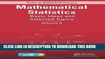 [PDF] Mathematical Statistics: Basic Ideas and Selected Topics, Volume II Full Collection