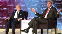 New York - La rencontre du Président Tunisien Béji Caid Essebsi avec John Kerry (Secrétaire d'État des États-Unis)