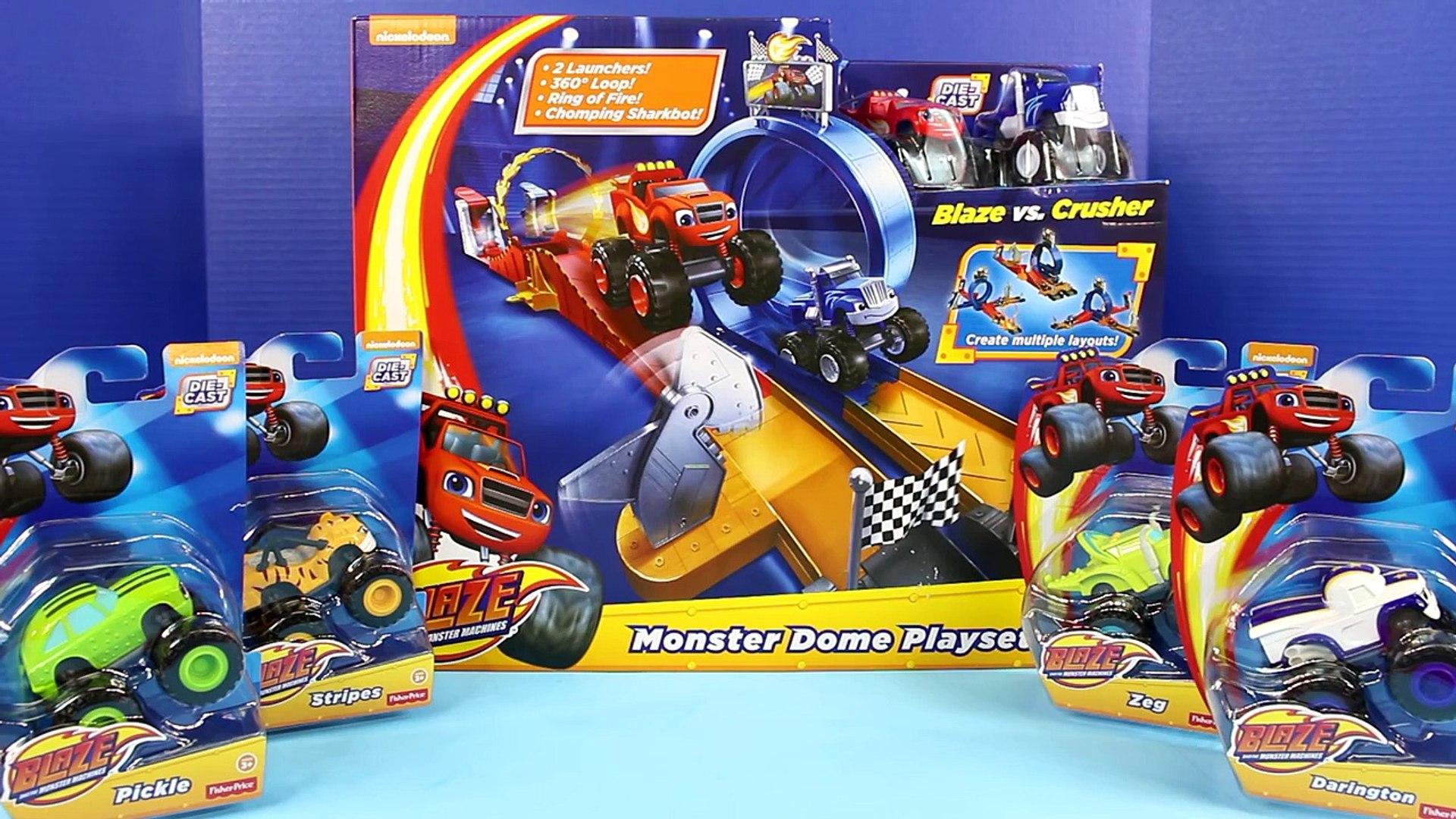 Nickelodeon Blaze And The Monster Machines Monster Dome Playset Darington Stripes Crusher Zeg
