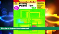 READ BOOK  Reading Paired Text, Grade 6 (Reading Paired Text: Common Core Mastery)  BOOK ONLINE
