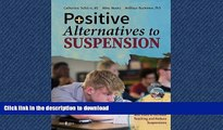 FAVORIT BOOK Positive Alternatives to Suspension: Procedures, Vignettes, Checklists and Tools to