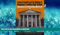 FAVORIT BOOK Leonard Covello and the Making of Benjamin Franklin High School: Education As If