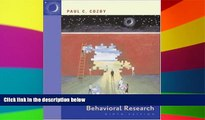 Big Deals  Methods in Behavioral Research with PowerWeb  Best Seller Books Most Wanted