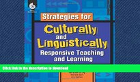 READ THE NEW BOOK Strategies for Culturally and Linguistically Responsive Teaching and Learning -