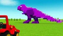T Rex Dinosaur for kids smashing cubes 3D Cartoon Animation show for kids 2015